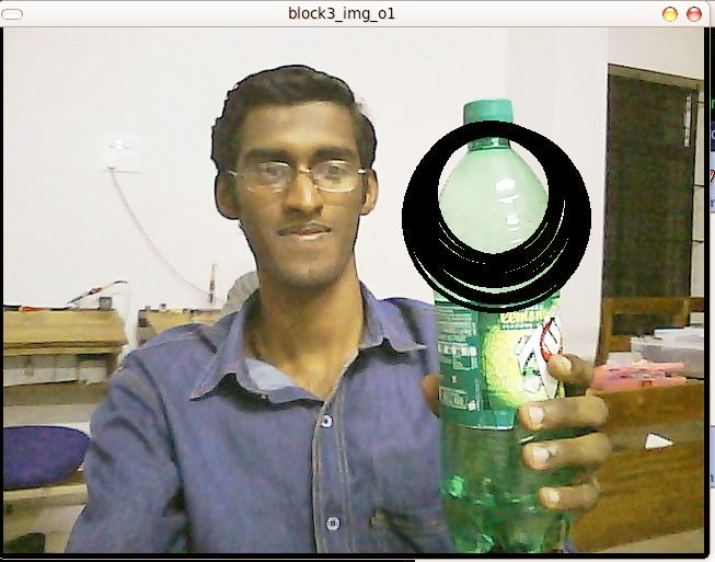 Here comes the outputs, the bottle in my hand is identified and encircled