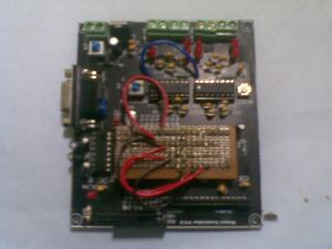 The Robot controller board, plugged in with Atmega328