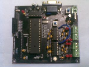 The Robot controller Board, LCD removed, showing the 8051