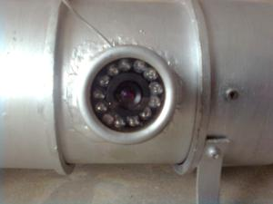 The camera, surrounded by IR LEDs